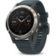 Garmin fenix 5 With granite blue arm band grey
